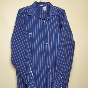 Rocawear Dress Shirt 3XL - Blue with Red and Grey